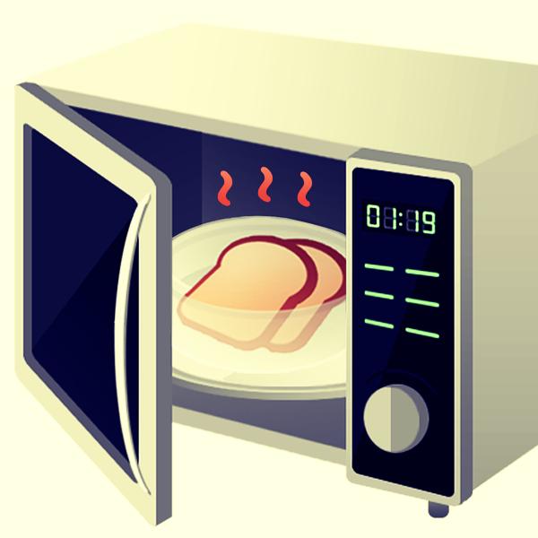 quitar olor a quemado del microondas